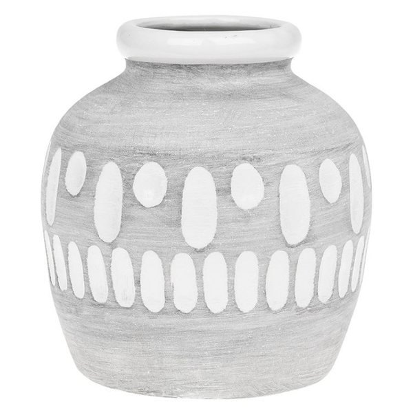 Inca Grey Round Vase Small