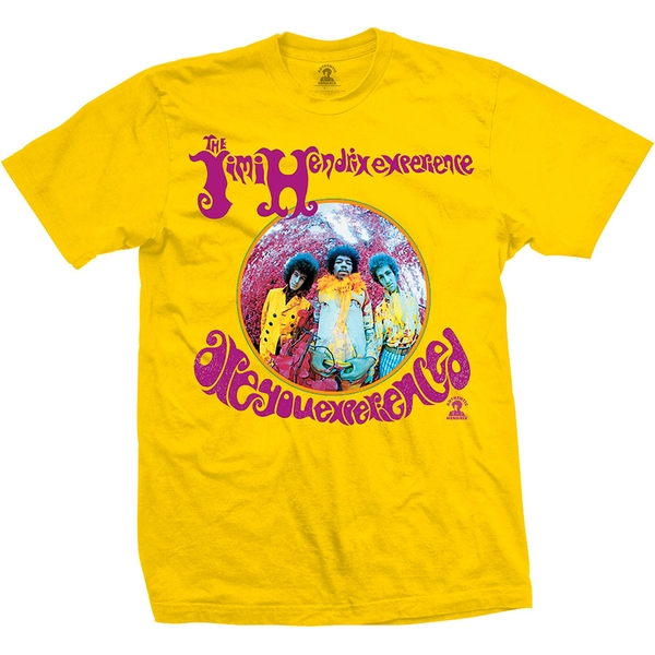 Jimi Hendrix - Are You Experienced? Unisex X-Large T-Shirt - Yellow
