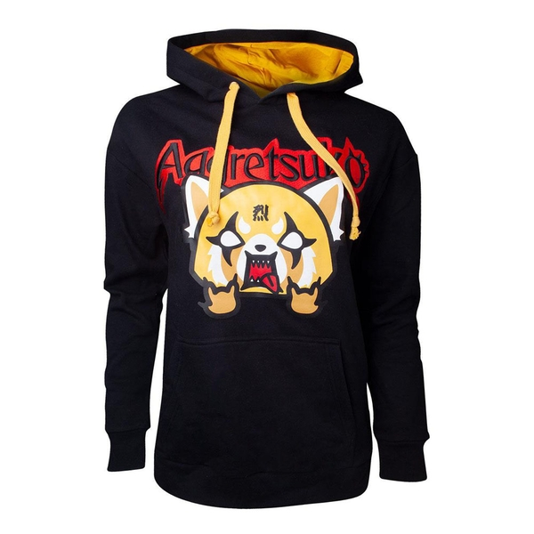 Aggretsuko - Retsuko Rage Embroidered Women's Medium Hoodie - Black