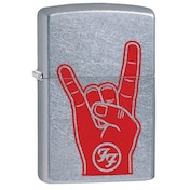 Zippo Foo Fighters Rock On Street Chrome Finish Windproof Lighter