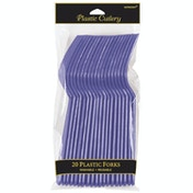 Plastic Forks Purple Party (Pack Of 20)