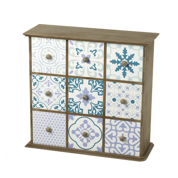 Decorative Nine Drawer Wooden Cabinet By Heaven Sends