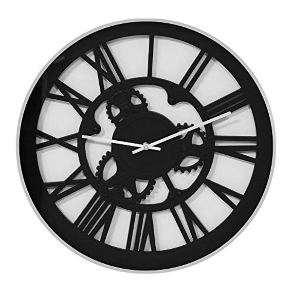 Hometime Plastic Wall Clock Cut Out Dial 45cm