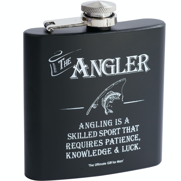 Ultimate Gift for Man Hip Flask Angler