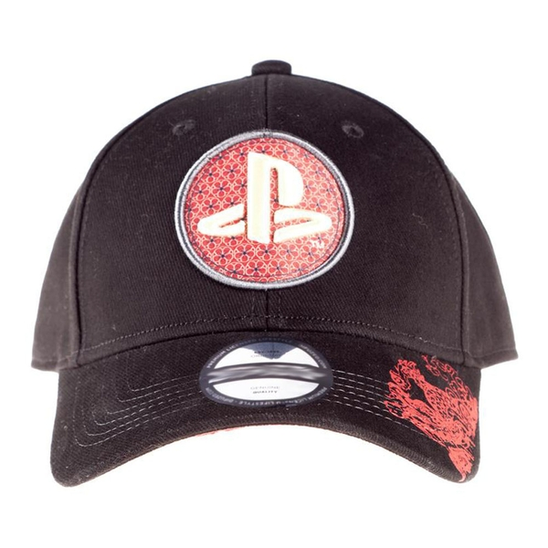 Sony - Playstation Biker Japanese Logo Bow Cap Unisex - Black