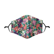 Ditsy Floral Coral Printed 100% Cotton Face Mask