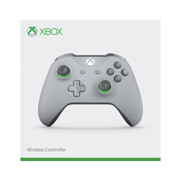Grey/Green Wireless Xbox One Controller
