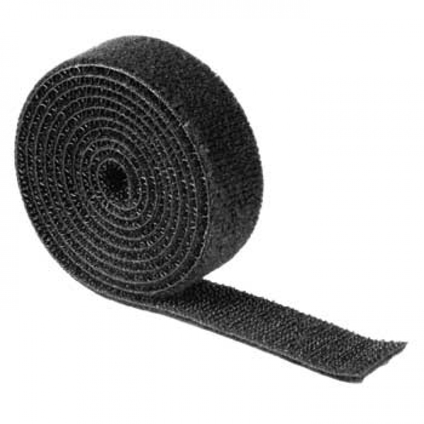 Hook and Loop Strap, universal, 1 m, black