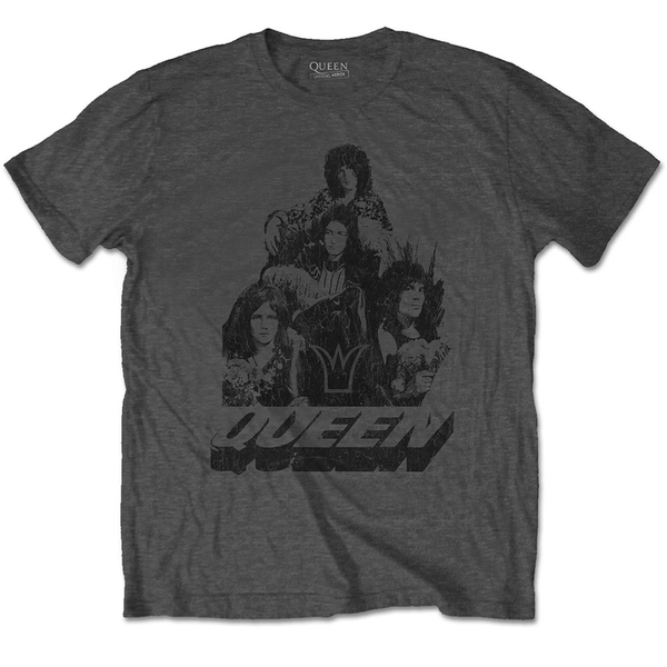 Queen - 70s Photo Unisex Small T-Shirt - Grey