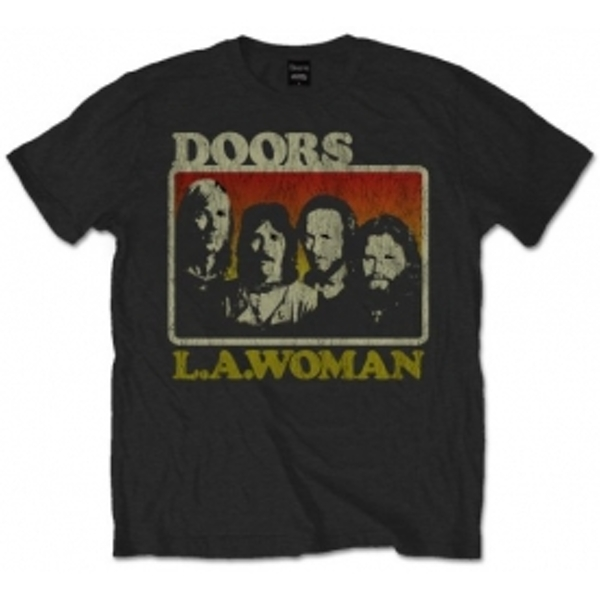 The Doors LA Woman Mens Blk T Shirt: Large