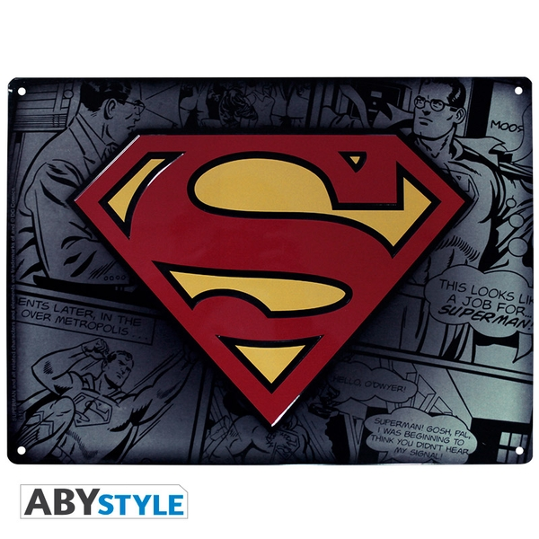 DC Comics - Superman (28 x 38cm) Metal Plate
