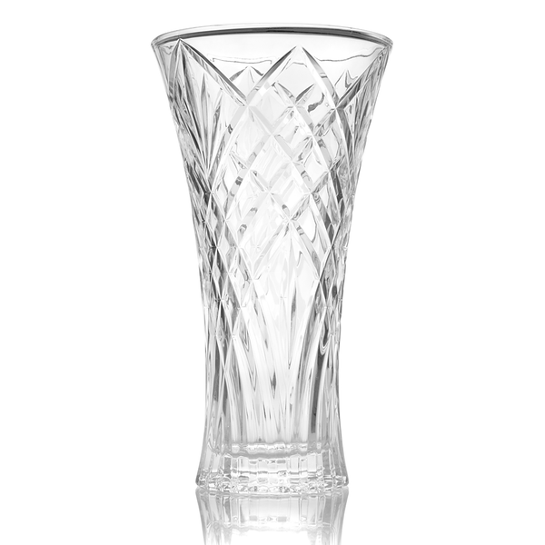 Crystal Glass Tall Flower Vase | M&W