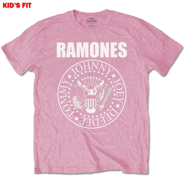 Ramones - Presidential Seal Kids 7 - 8 Years T-Shirt - Pink