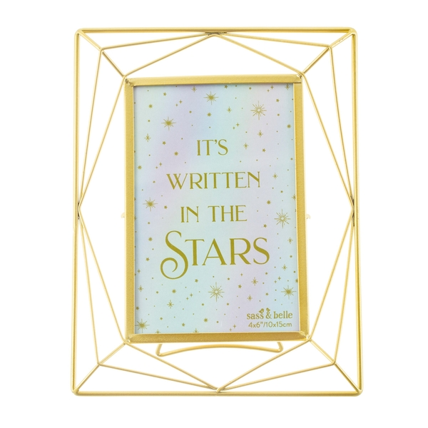 Sass & Belle Trapeze Gold Photo Frame