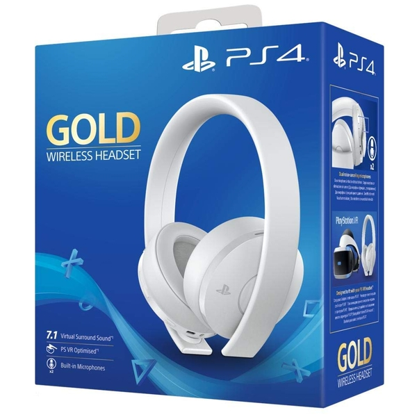 PlayStation 4 Gold Wireless Headset [White]