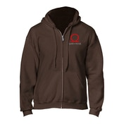 God of War - Serpent Logo Men's XX-Large Full Length Zipper Hoodie - Brown