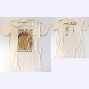 James Taylor - 2018 Tour Harmonica Men's Large T-Shirt - Natural