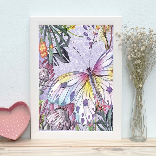 BC184028402 Multicolor Decorative Framed MDF Painting