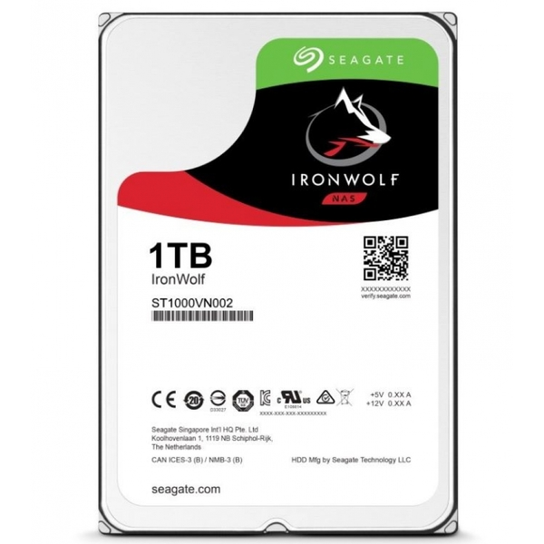 Seagate IronWolf 1TB NAS 5900RPM SATA 6Gb/s 64MB Cache HDD OEM (ST1000VN002)