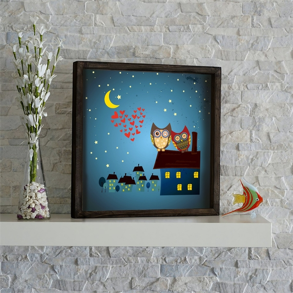 KZM661 Multicolor Decorative Framed MDF Painting