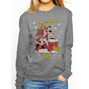 DC Originals - Wonder Woman Xmas Women's X-Large Jumper - Grey