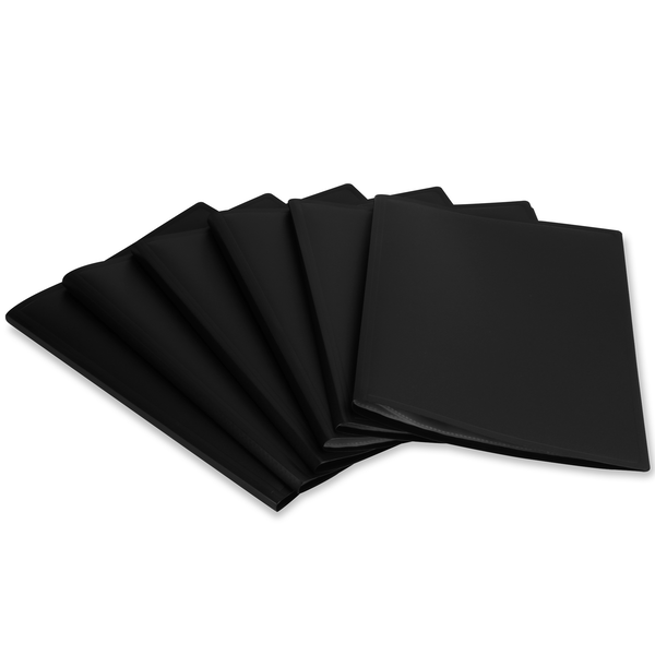 Set of 6 A4 Display Folder | Pukkr Black