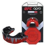 UFC Platinum Fangz Mouthguard by Opro Red/Black/Silver Adult