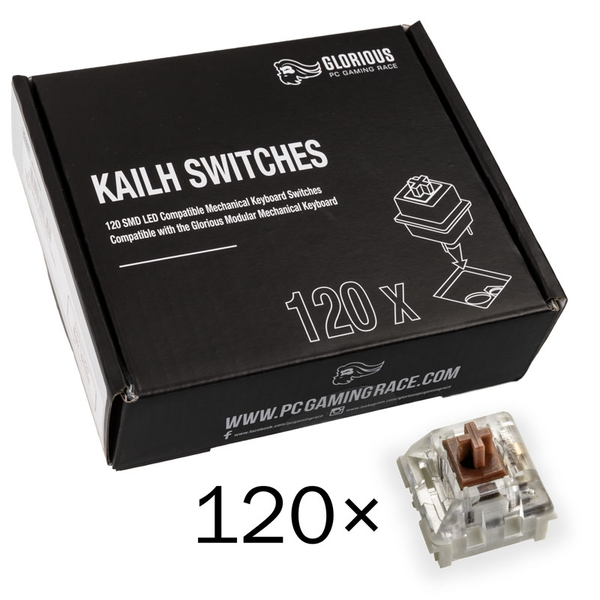 Glorious PC Gaming Race Kailh Speed Bronze Switches (120 pieces)