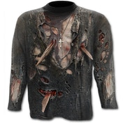 Zombie Wrap Allover Men's Small Long Sleeve T-Shirt - Black