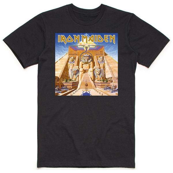 Iron Maiden - Powerslave Album Cover Box Men's Large T-Shirt - Black