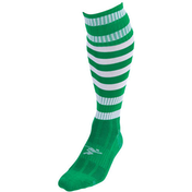 Precision Hooped Pro Football Socks Junior - Green/White