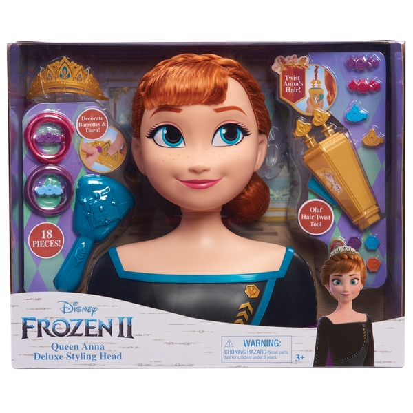 Frozen 2 Deluxe Anna Styling Head