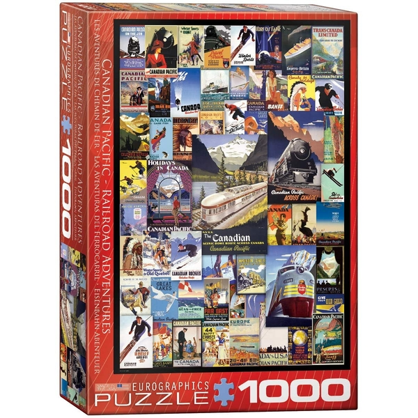 Canadian Pacific Adventures Eurographics 1000 Piece Jigsaw Puzzle