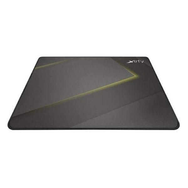Xtrfy GP1 Large Surface Gaming Mouse Pad, Black & Yellow, Cloth Surface, Washable, 460 x 400 x 2 mm