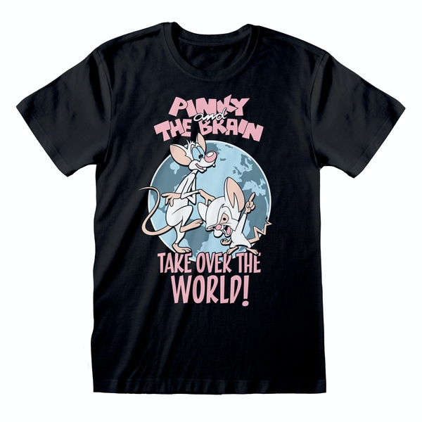 Animaniacs - Take Over The World Unisex Small T-Shirt - Black