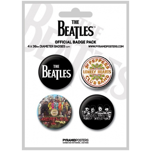 The Beatles (white) Badge Pack