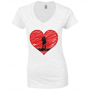 Couples in Love White Womens T-Shirt Medium ZT