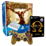 500GB Super Slim Console Special Edition White + God of War Ascension Steelbook Game PS3