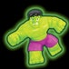 Glow In The Dark Hulk (Marvel) Heroes of Goo Jit Zu Figure - Image 2
