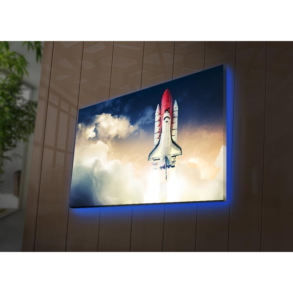 NASA-001 Multicolor Decorative Led Lighted Canvas Painting