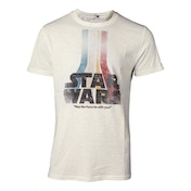 Star Wars: The Force Awakens - Retro Rainbow Logo Men's Small T-Shirt - White