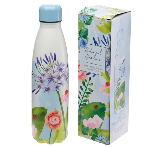 Botanical Gardens Reusable Stainless Steel Hot & Cold Thermal Insulated Drinks Bottle 500ml