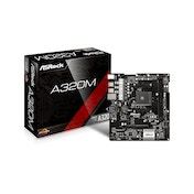 Asrock A320M, AMD A320, AM4, Micro ATX, 2 DDR4, No Graphics, M.2, RAID