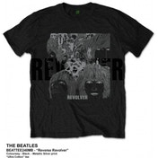 The Beatles Reverse Revolver Mens Black Tshirt: Large