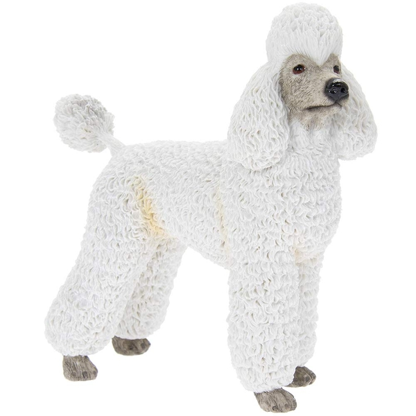 Poodle White Figurine By Lesser & Pavey