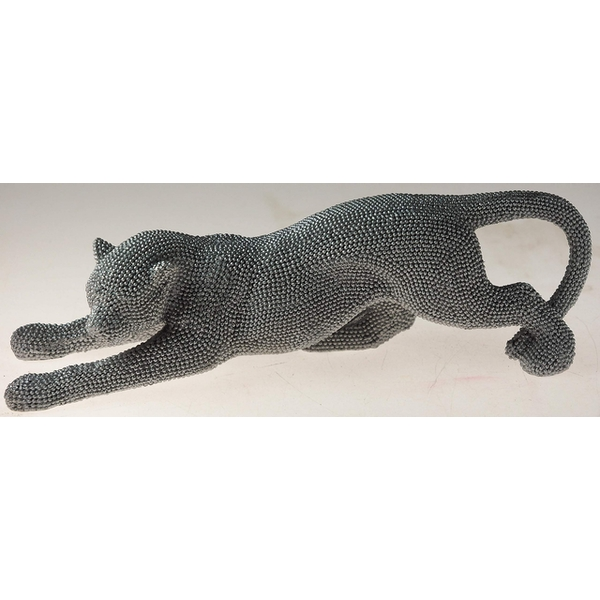 Silver Art Cheetah Small Figurine By Lesser & Pavey