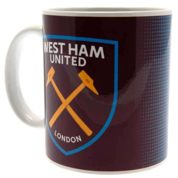 West Ham United FC Half Tone Mug