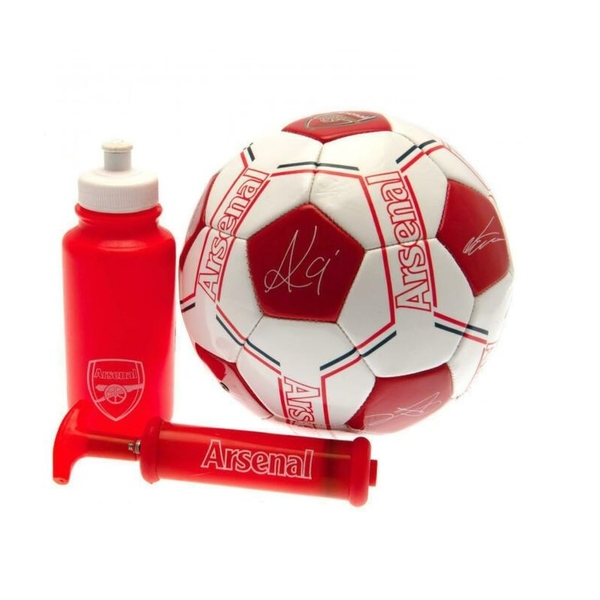 Arsenal FC Signature Gift Set size 5 Football with bottle and pump