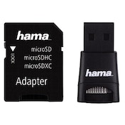Hama USB 2.0 Card Reader + Adapter Kit, microSD, black