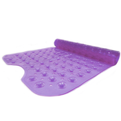 Non-slip Extra Long Bath Shower Mat | suction grip | machine washable M&W Purple New